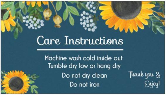Sunflower Care Card