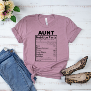 aunt nutrition facts