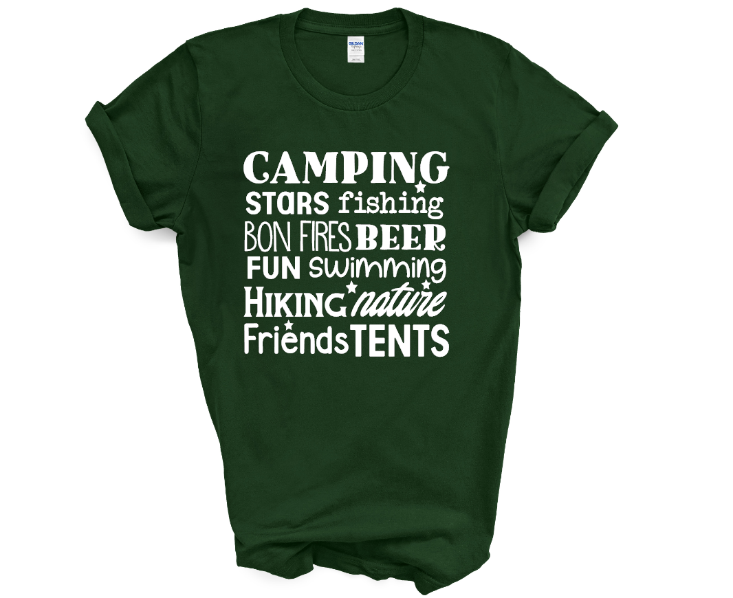 CAMPING TYPOGRAPHY