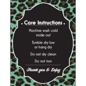 Green Leopard Care Card