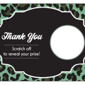 Green Leopard Scratch Off Card