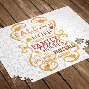 fall pumpkin spice puzzle