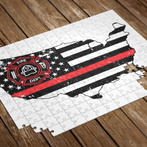 fire fighter usa map puzzle