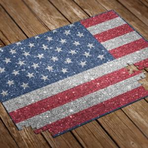glitter flag puzzle