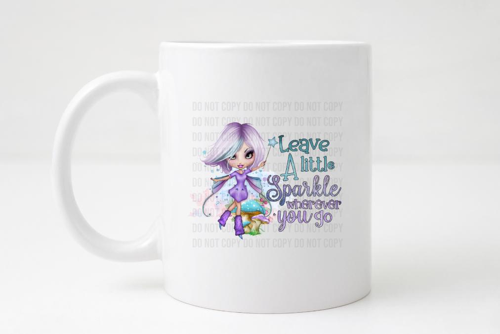 leave a little sparkle coffee mug