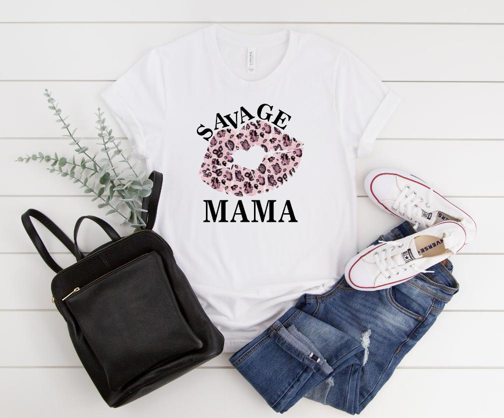 savage mama pink leopard