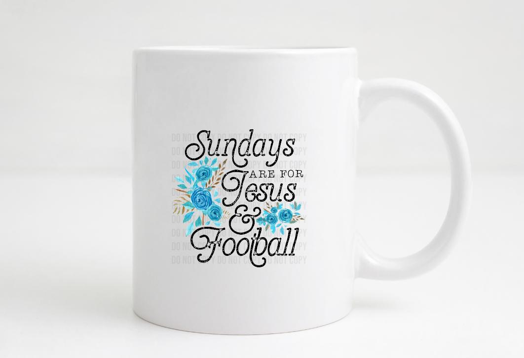 sundays are for jesusa and football coffee mug