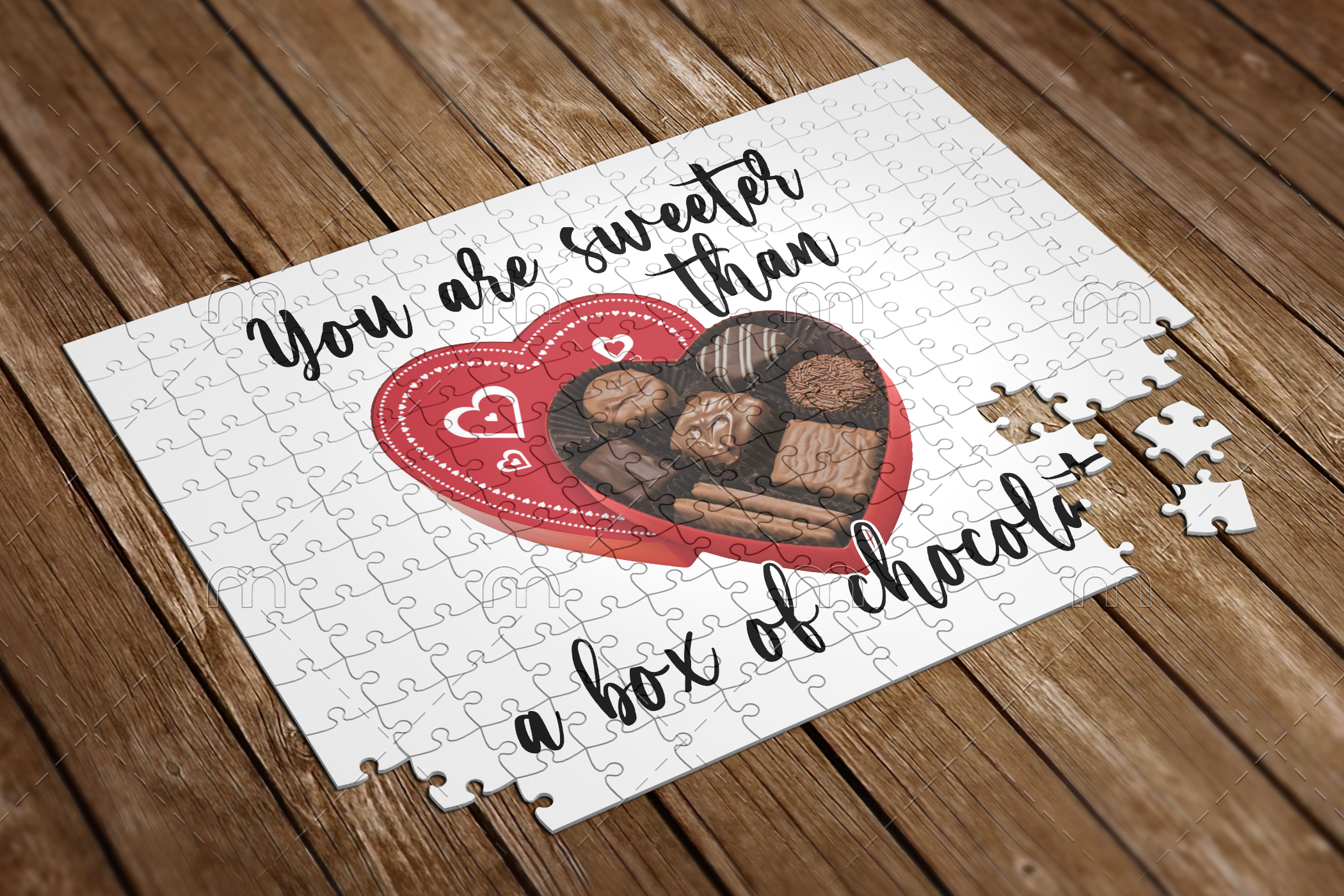 you are sweeter than a box of chocolates puzzle