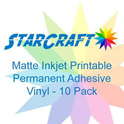 StarCraft Inkjet Printable Matte Permanent Adhesive Vinyl