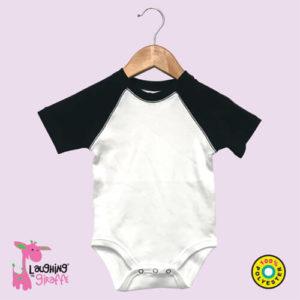 black-short-sleeve-raglan-onesie-polyester