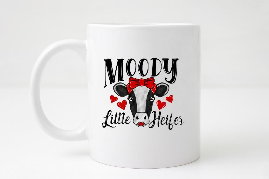 moody little heifer mug