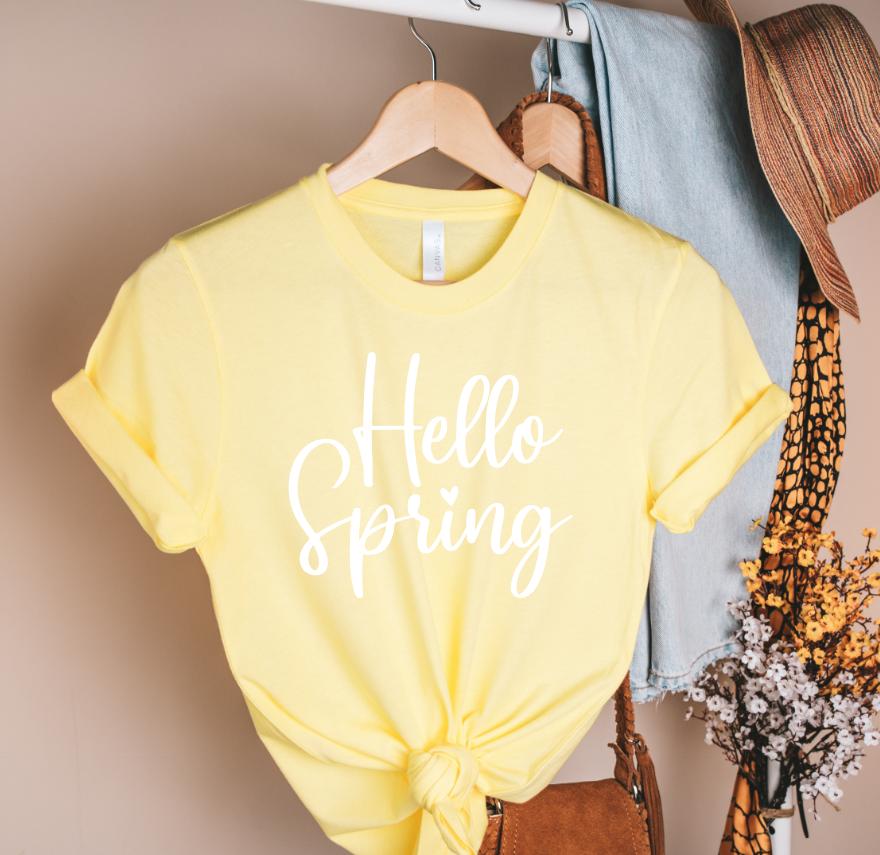 hello spring white