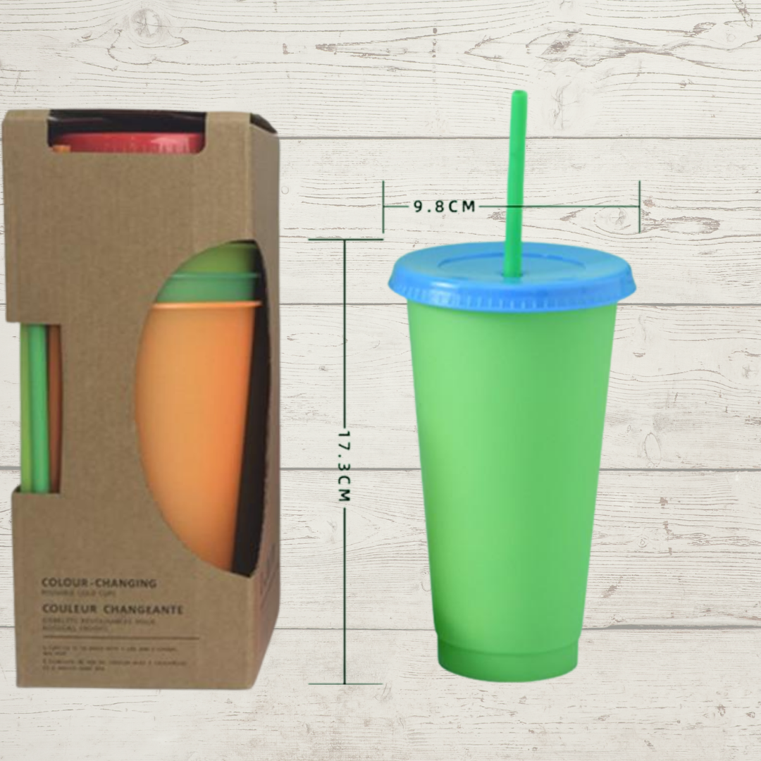 24oz Plastic Color Changing Cup
