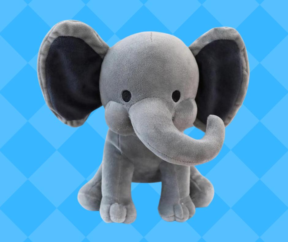 Boy Birth Announcement Stuff Elephant
