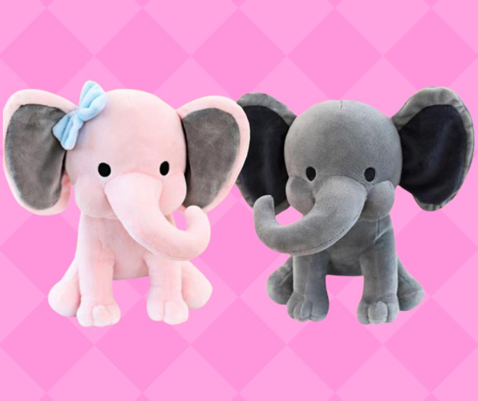 Stuffed Elephant Birth Announcement