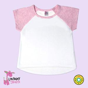 Toddler Short Sleeve Raglan High Low