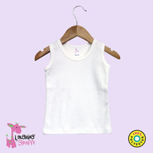Sublimation Toddler Tank Top White
