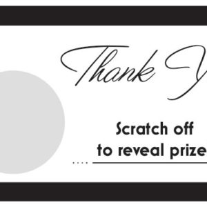 Modern Scratch Off Thank You Card