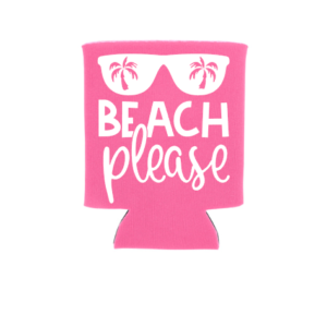 beach please koozie