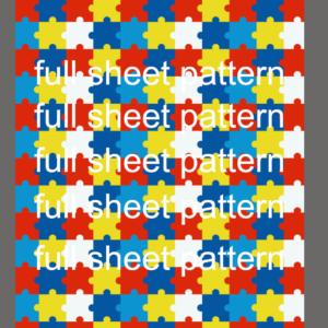 Autism Stars Pattern