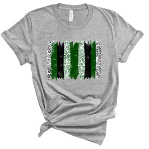 black and green brushstrokes