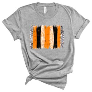 black and orange brushstroke