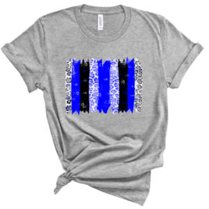blue and black brushstrokes