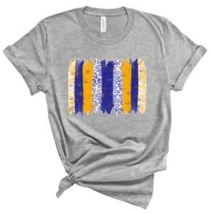 blue and gold brushstroke
