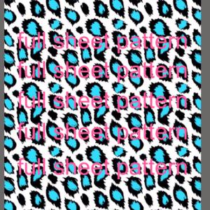 blue leopard pattern