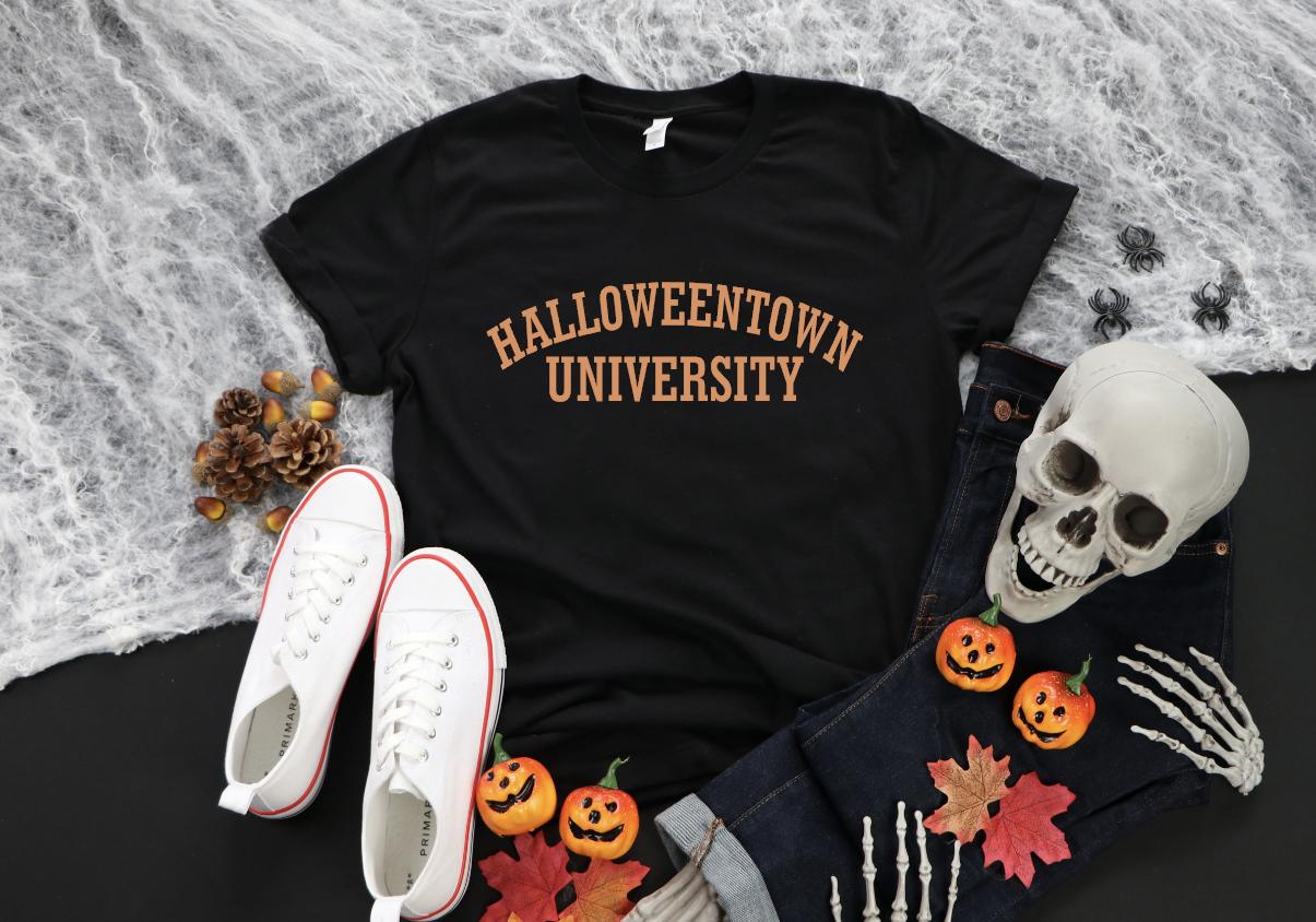 halloweentown university - metallic orange