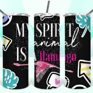 my-spirit-animal-is-a-flamingo--tumbler-mock-up