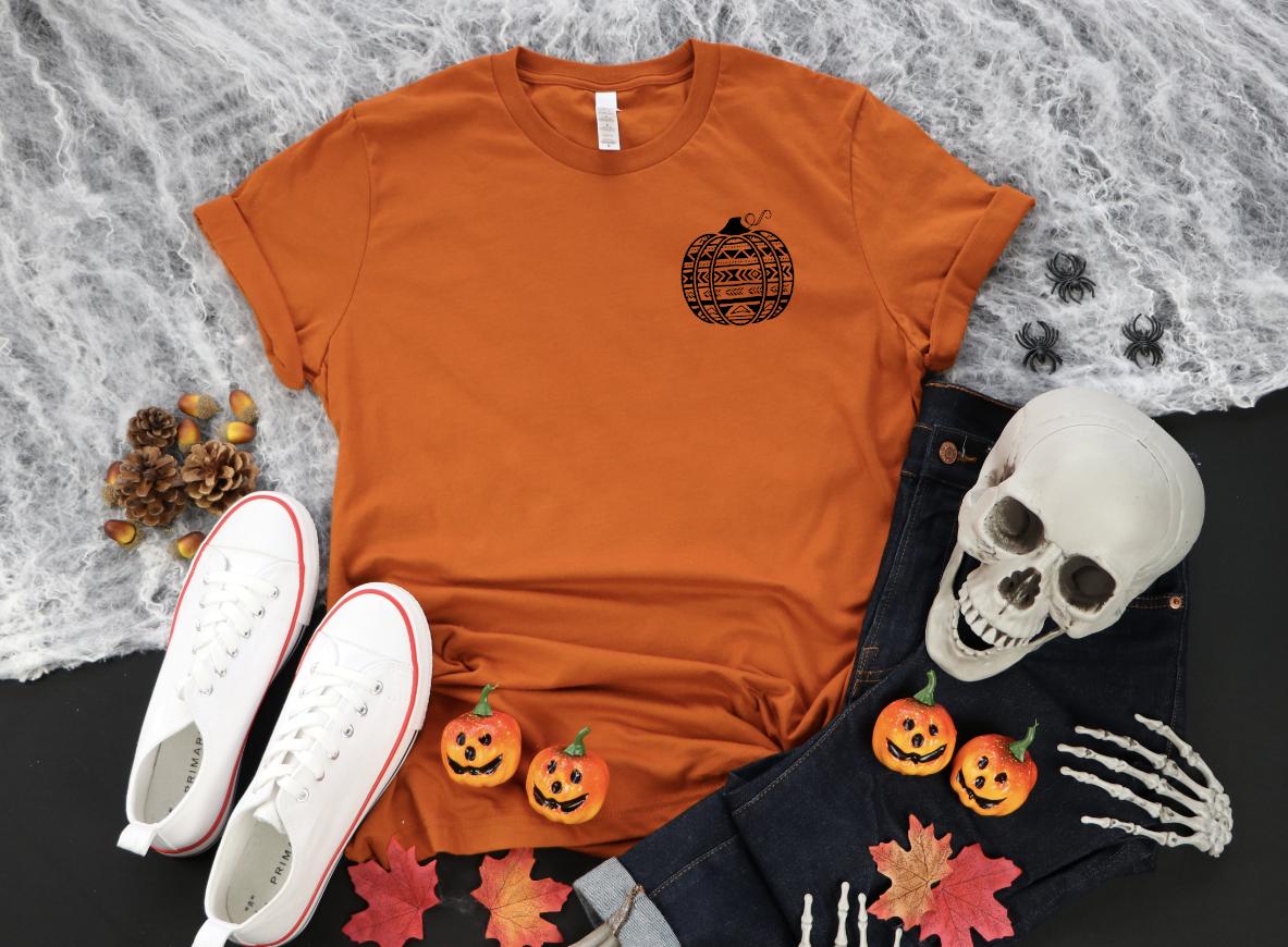 aztech tribal pumpkin pocket