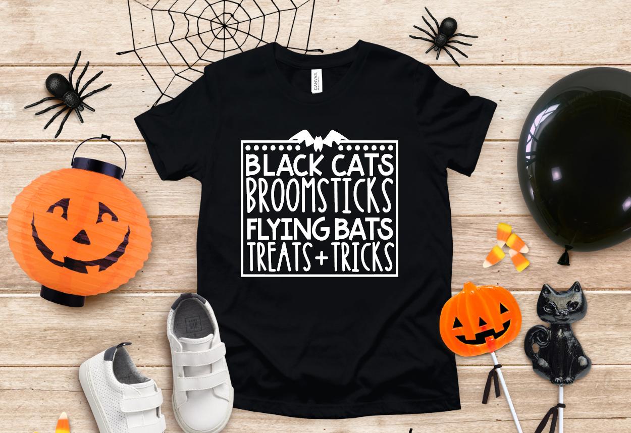 black cats broomsticks