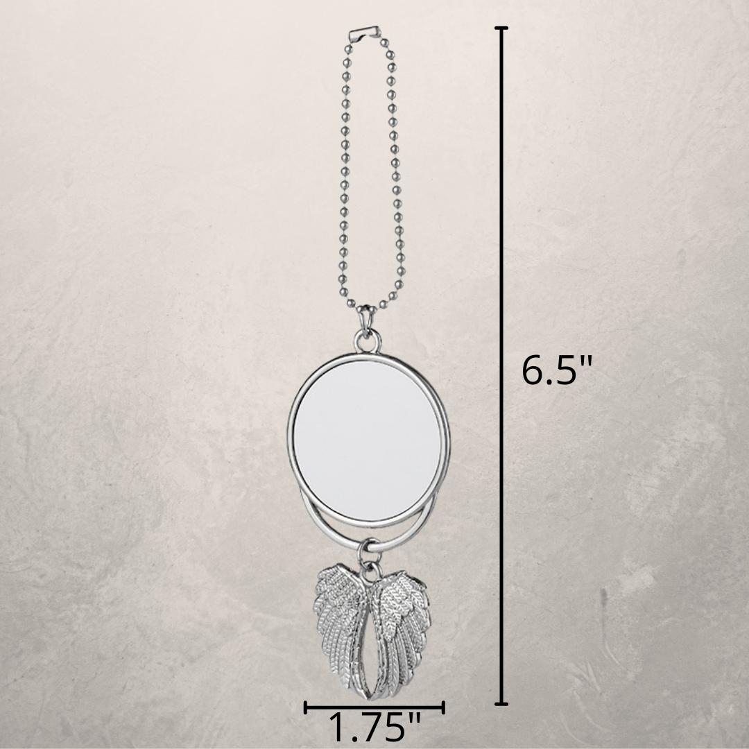 Angel Wing Keychain Measurements