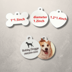 Blank Sublimation Double Sided Pet Tags