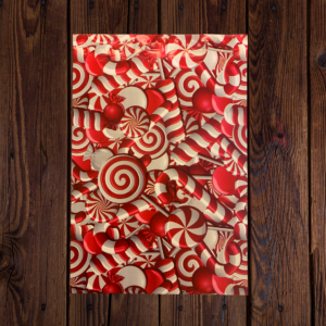Candy Cane Poly Bag