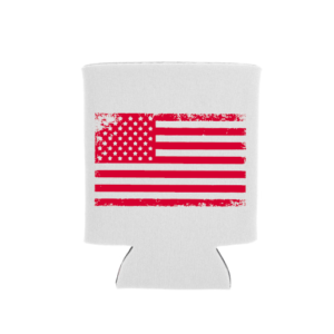 red distressed flag 3 in